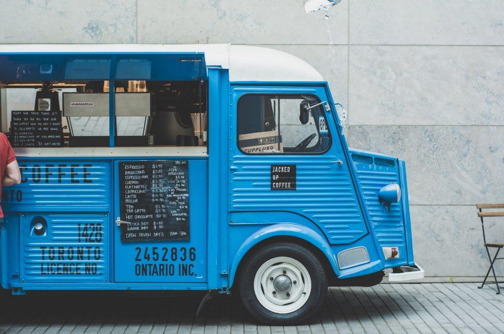 foodtruck blauw